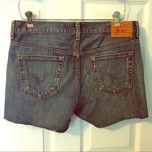Levi's 501 Button Fly Cutoff Jean Shorts 8 10